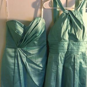 2 Tiffany color bridesmaid dresses